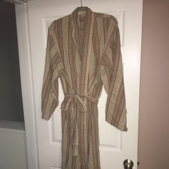 89ddfe70ae5ca Oddbird Striped Turkish Cotton Robe